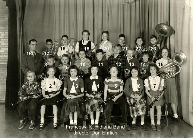 Francesville Band numbered
