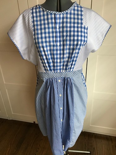 shirt-shirtdress blue gingham