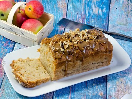 Apfel-Karamellkuchen aus der Kastenform (1)