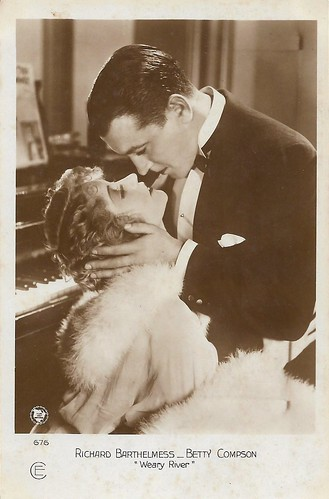 Richard Barthelmess and Betty Compson in Weary River (1929)