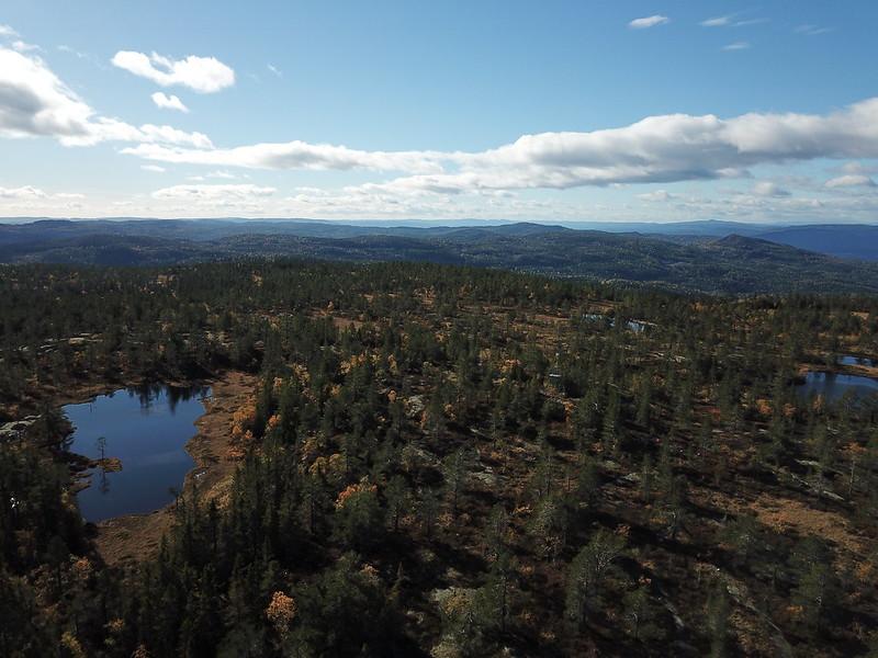 46-Utsikt sørover fra Hovlandsfjell (drone)