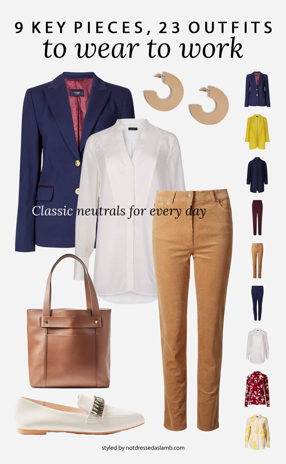 23 Workwear Outfits From 9 Key Pieces Perfect for a Creative Office: Neutrals for Every Day | Not Dressed As Lamb, over 40 style