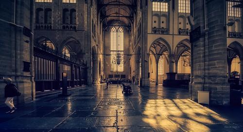 Inside the Grote Kerk Alkmaar.