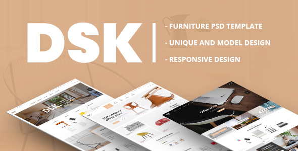 DSK - Furniture PSD Template