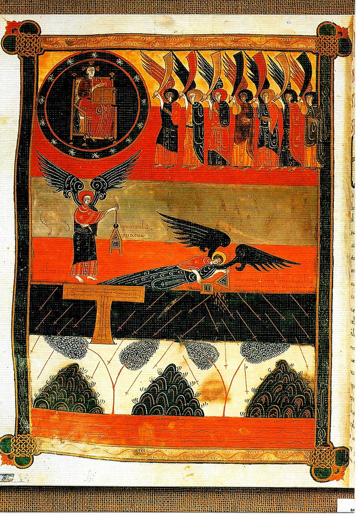 Los siete ángeles ante el Señor. Ap. VIII, 1-5