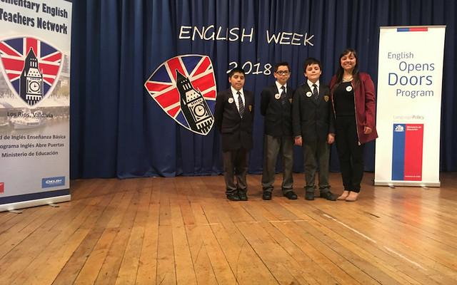 Estudiantes del 5° básico B participan en el English Day 2018