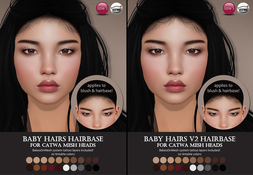 Catwa Baby Hairs Hairbases (Hair Fair 2018) - TeleportHub.com Live!