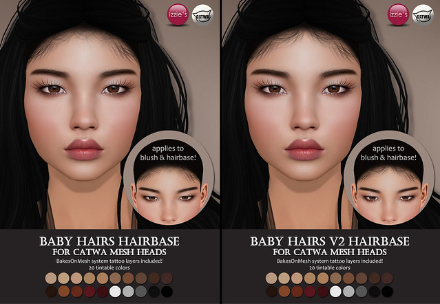 Catwa Baby Hairs Hairbases (Hair Fair 2018)