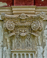 Capital on a pilaster