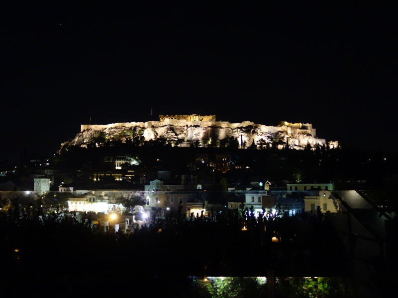 view of Acropolis from Athens