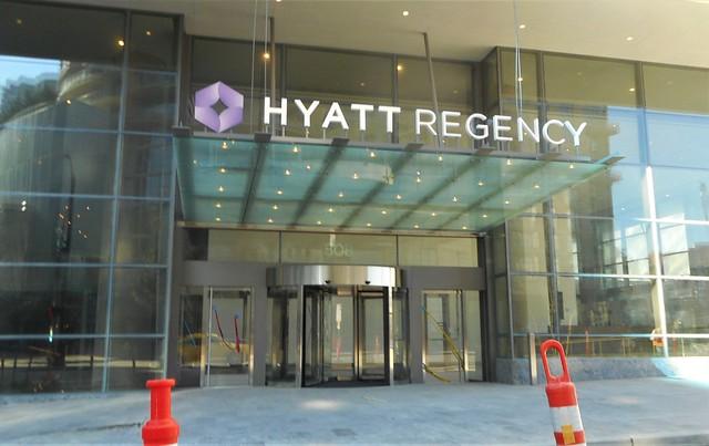 Hyatt Regency under construction, Nikon COOLPIX S3700