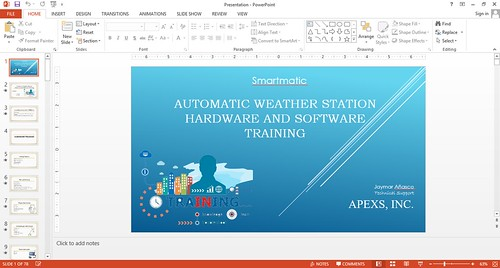 Training-of-Automated-Weather-Station-AWS-in-Smartmatic-via-Skype-presentation