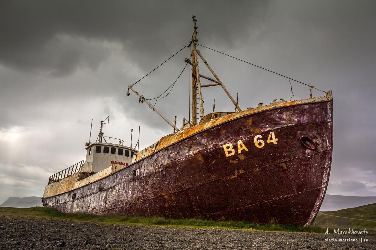 Gardar, BA64, Iceland, abandoned ship, заброшенное судно, Исландия