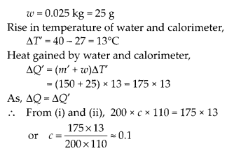NCERT Solutions for Class 11 Physics Chapter 11Thermal Properties of matter 11