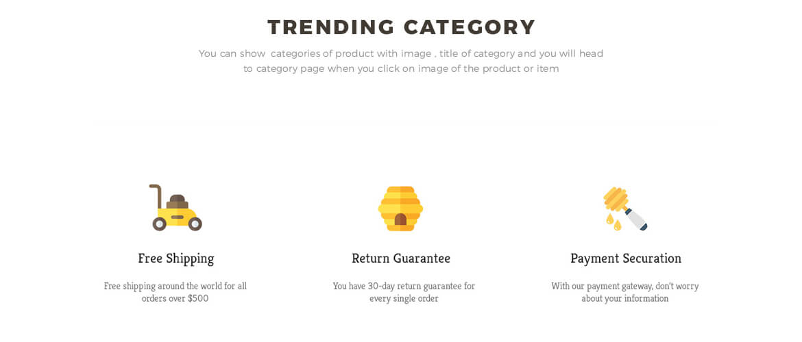 trending category - prestashop 1.7 theme for honey store