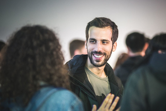 Image of new student from the Doctoral Welcome Reception 2018