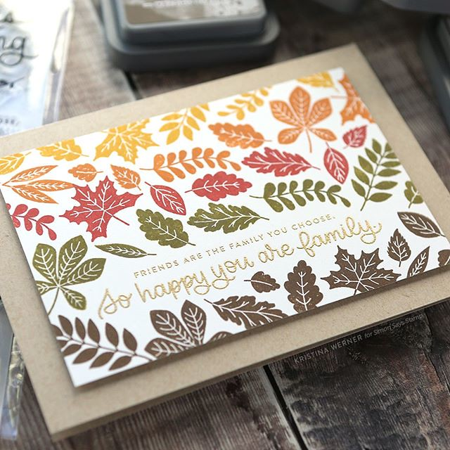 Let's take a break from the holiday cards to play with more autumn colors! Check out a video of this quick and easy stamped card, featuring @tim_holtz Distress Oxide Inks and a new stamp set from @simonsaystamp, at the link in my profile. #sponsored #kwer