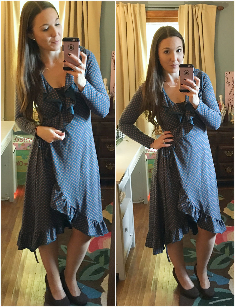 matilda jane reunion wrap dress blue wrap dress