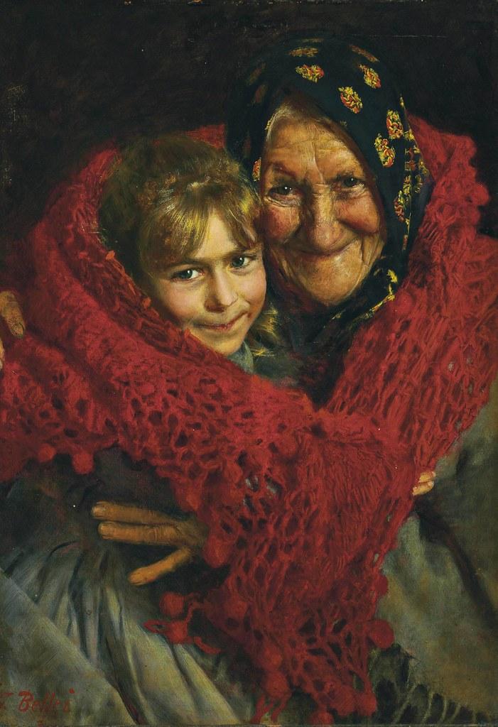 Gaetano Bellei - Grandmother and child
