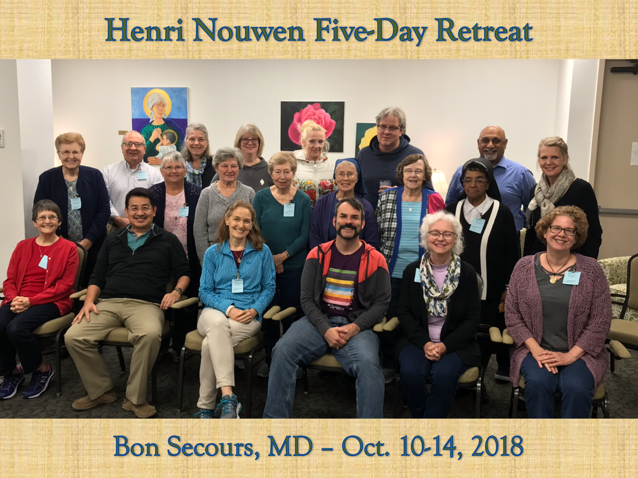 Nouwen Five-Day Retreat Oct. 10 - Oct. 14   Bon Secours Retreat and Conference Center  Marriottsville, Maryland