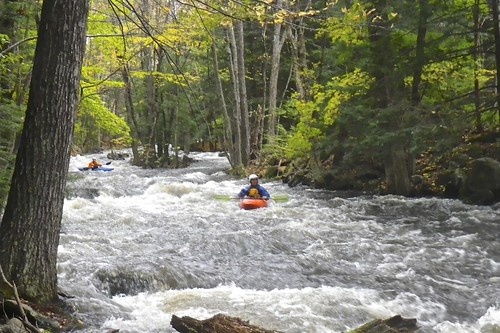 Boaters coming down the upper section