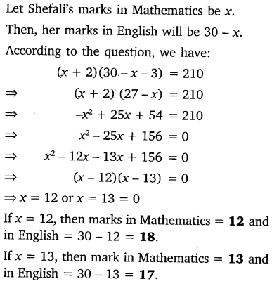 NCERT Solutions for Class 10 Maths Chapter 4 Quadratic Equations 26