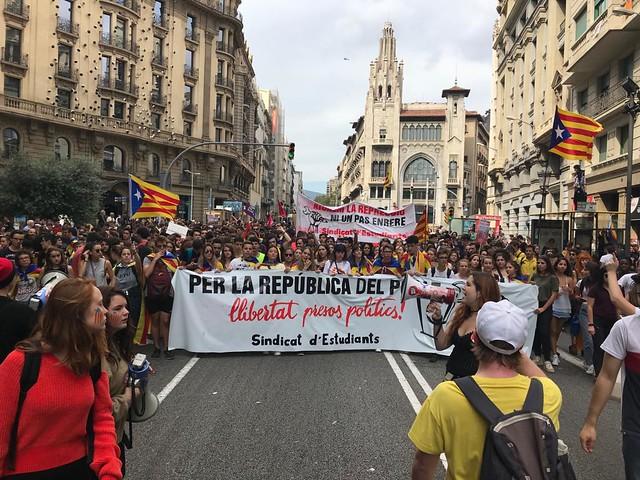 1 d'Octubre · Manifestacions Vaga Estudiantil contra la repressió