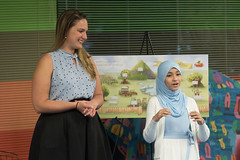 "In conjunction with Anti-Bullying Month, State Representative Stephanie Cummings (R-74) and Waterbury's Silas Bronson Library hosted a symposium on bullying and community awareness featuring local author, and 8th grade student, Mariam Azeez reading her book ""Soulful Sydney Explores Diversity.""  After the reading, there was a community discussion led by local activist and member of the Muslim Coalition of Connecticut, Fahd Syed.  Azeez, an engaging 11-year-old eighth-grade student in Newtown, wrote ""Soulful Sydney Explores Diversity"" after confronting the issue in her personal life and learning techniques on how to identify and address bullying in all forms. The book explores ""a place where everyone is equal, no matter how you look or what you wear,"" she said."