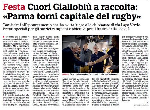 Gazzetta di Parma 17.10.18 - Festa Cuori Gialloblu