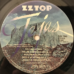 ZZ TOP:TEJAS(LABEL SIDE-B)