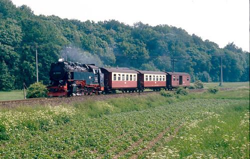 HSB 99.7231 mit N8966 vor Ilfeld am Nachmittag des 7.6.1993