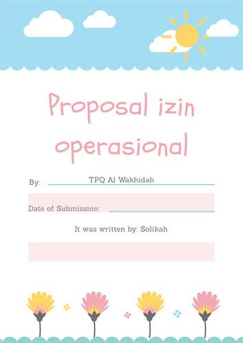 Contoh Proposal Pengajuan Izin Operasional TPQ