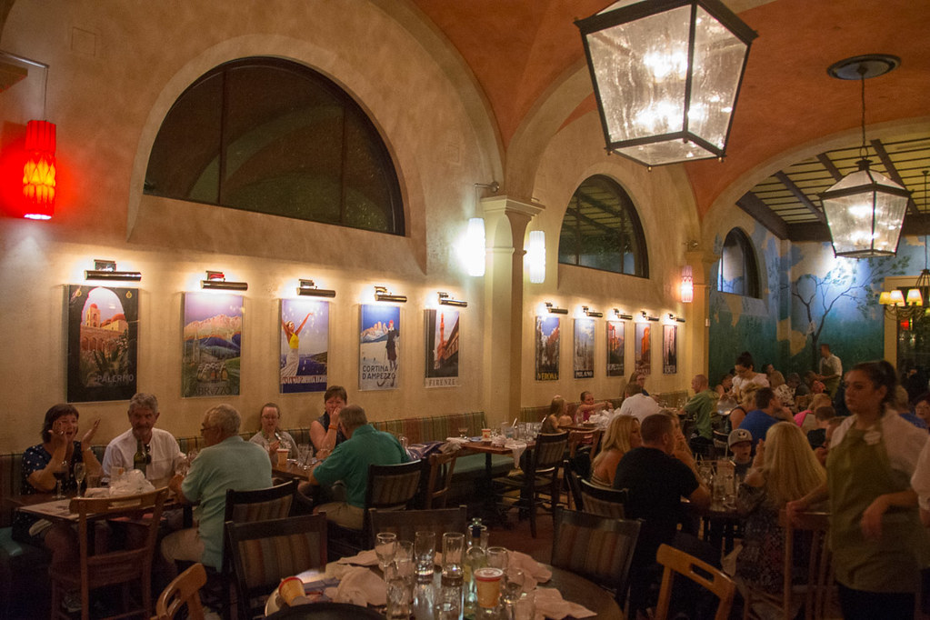 Inside Via Napoli at EPCOT