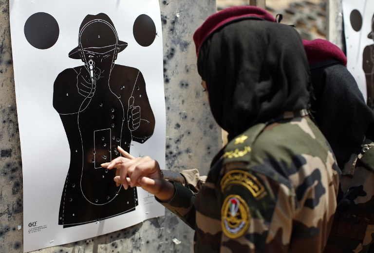 PALESTINIAN-ISRAEL-SECURITY-WOMEN