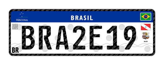 Até dezembro, o Pará deve adotar placas de veículo padrão Mercosul, Placa Mercosul