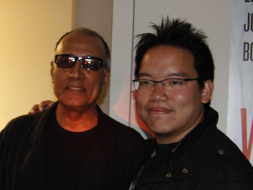 With Abbas Kiarostami, Cannes 2010