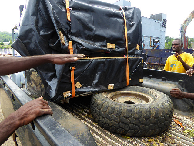 Robust housing units have to be small enough to be transported easily by Ute