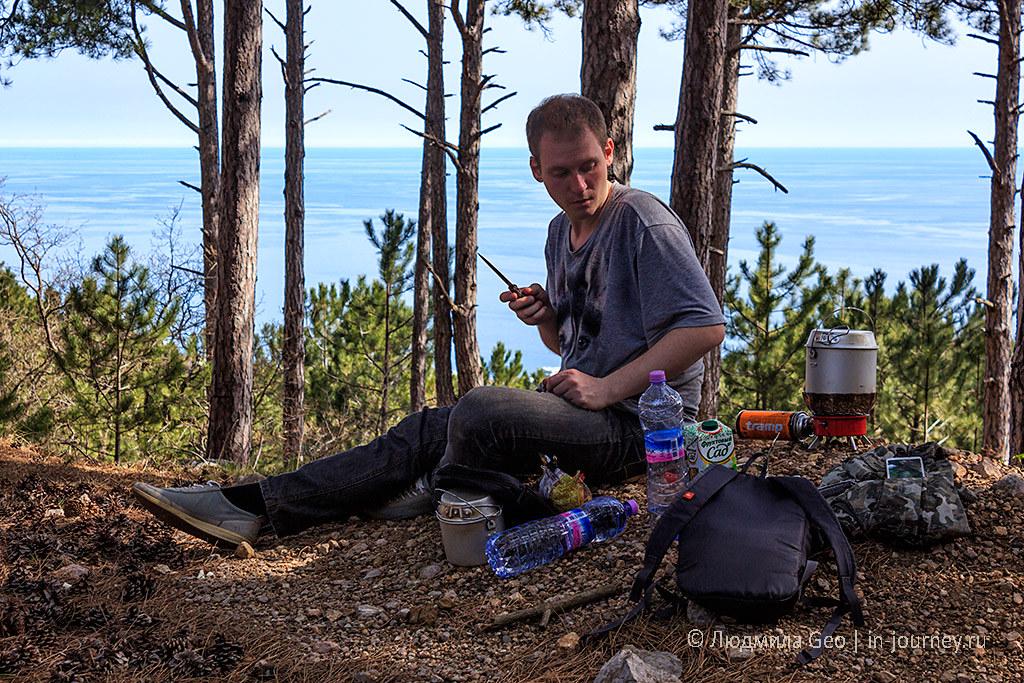 пикник на Кореизской тропе в Крыму