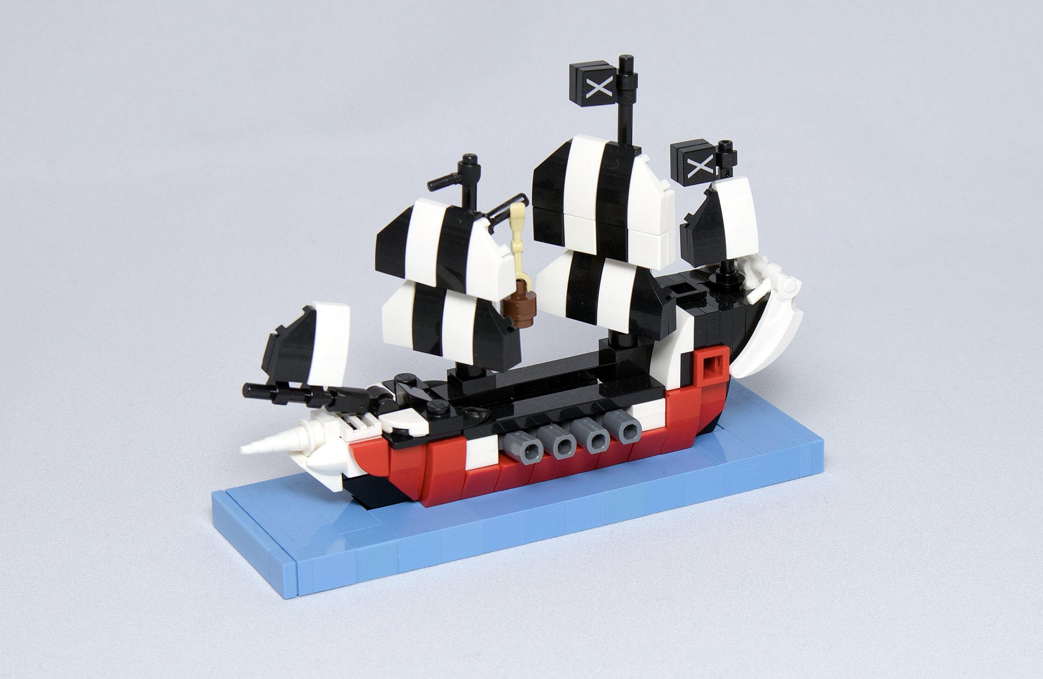 LEGO® MOC by Vitreolum: 6286 Skull's Eye Schooner Micro