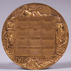 1978 Zodiac Calendar Medal reverse