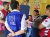 ECHO field experts and Guatemalan Red Cross staff members visit shelters in Escuintla, Guatemala.  © 2018 Cruz Roja Guatemala