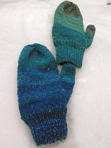 Handspun Targhee men's mittens by irieknit