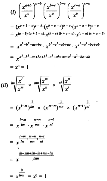 RD Sharma Class 9 Solutions Chapter 2 Exponents of Real Numbers Ex 2.2