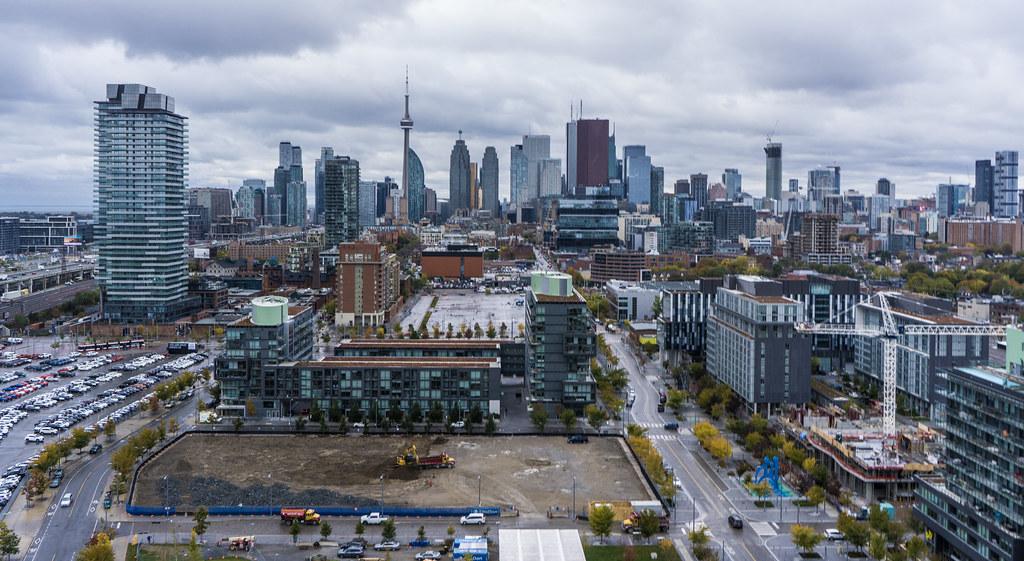 Corktown Common Toronto From Above