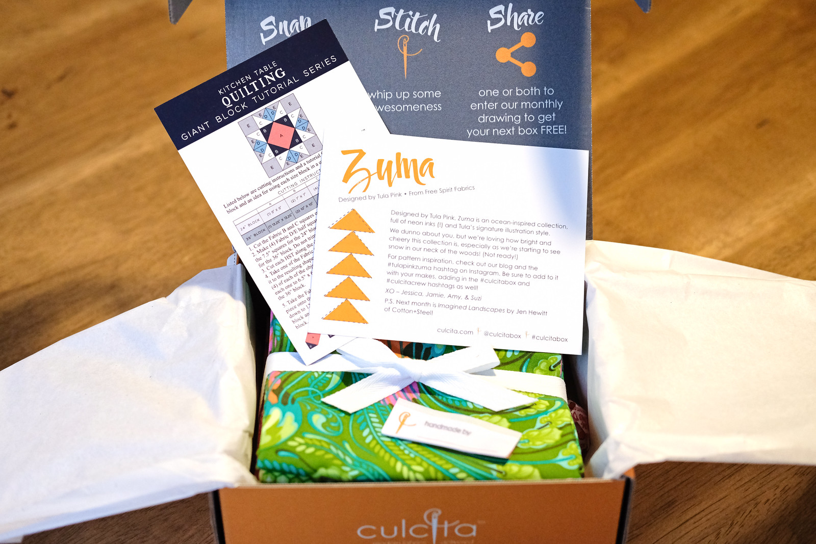 October Culcita Box Unboxing - Zuma by Tula Pink