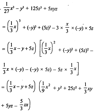 RD Sharma Solutions Class 9 Chapter 5 Factorisation of Algebraic Expressions