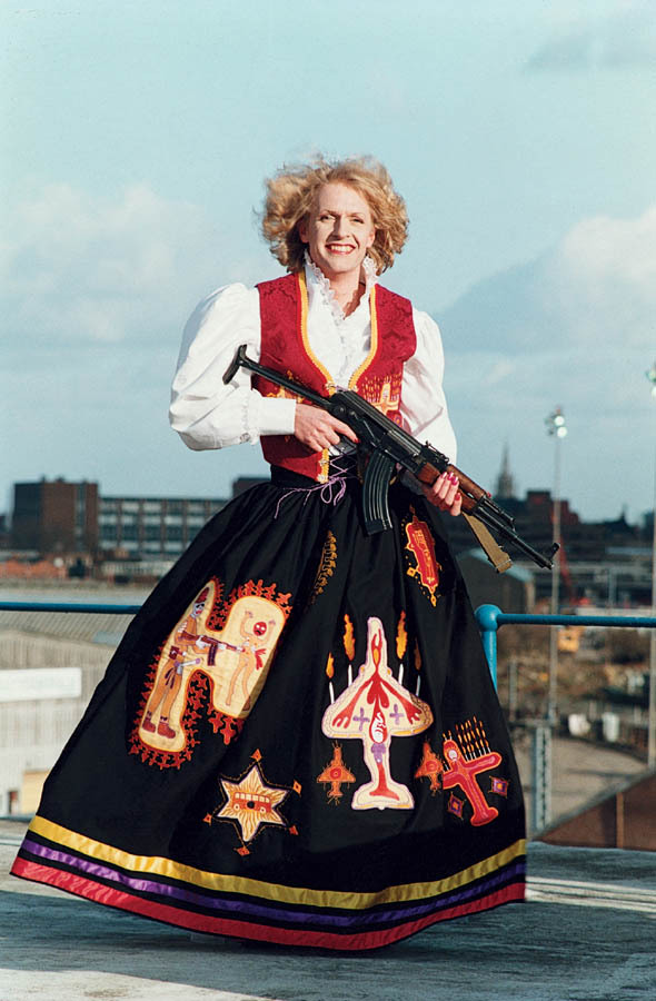 Grayson Perry with gun.