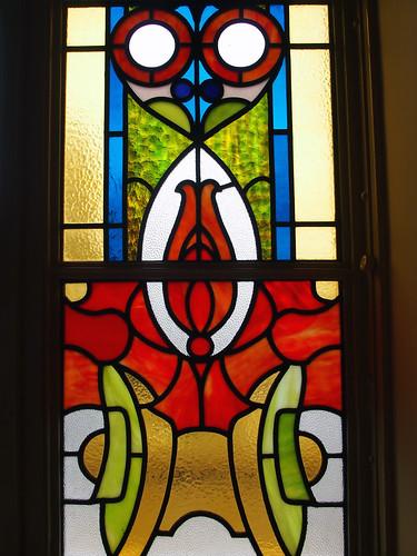 大阪市中央公会堂特別室ステンドグラス澪標