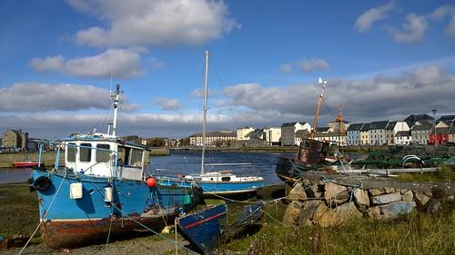 lumia1020 cameraphone boat quay galway ireland decay sunshine pier blue