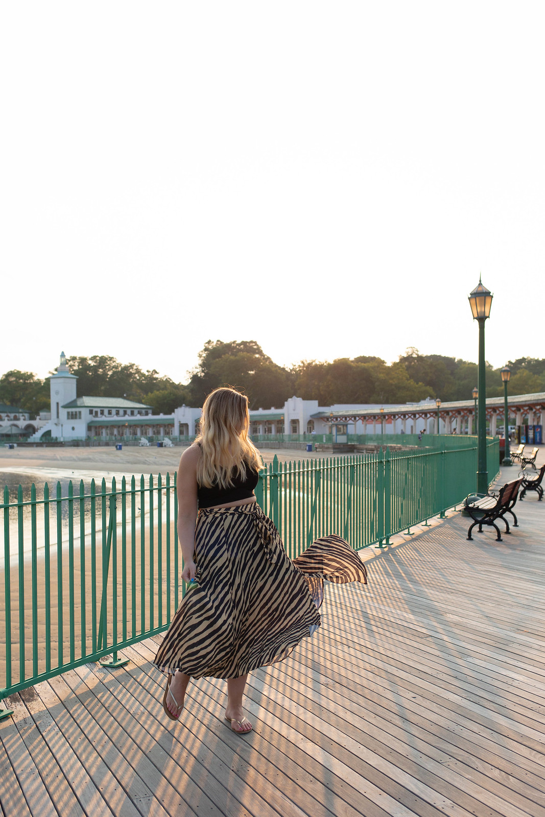 Topshop Zebra Print Pleated Midi Wrap Skirt Playland Boardwalk Animal Attraction: Is Zebra the New Leopard?
